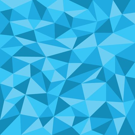 Blue Geometric Triangle Abstract Vector Background