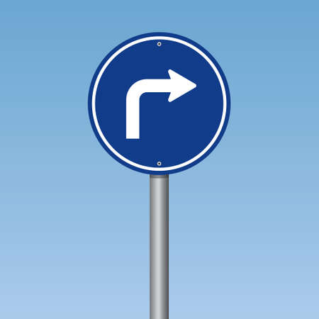 Right Turn Traffic Road Sign
