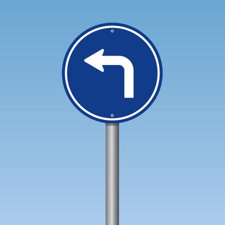 Left Turn Traffic Road Sign