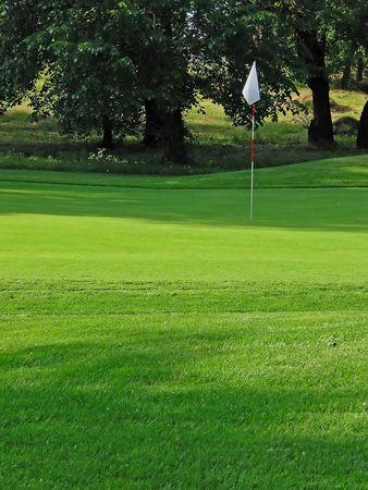 greens: belgrades golf course. hole no.8. Stock Photo