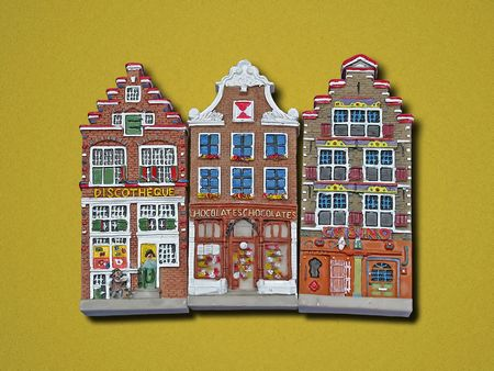 three small house icons Stock Photo
