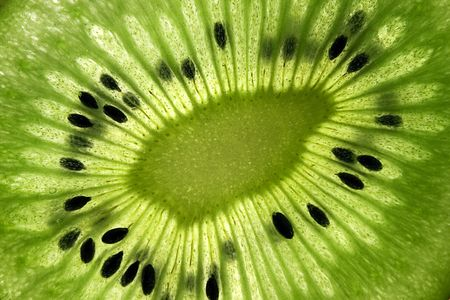 close up of a kiwi fruit inside with seeds Stock Photo - 2482999
