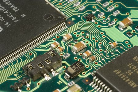 Circuit board close up view