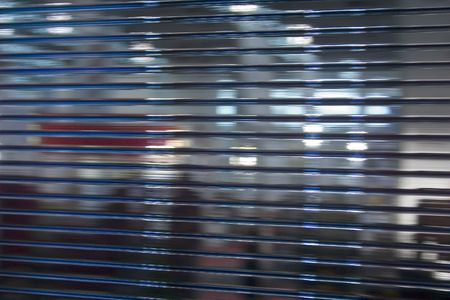 kaleidascope: close up view on office glass wall.