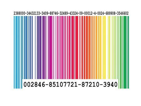 bar code stripes super macro view in color.