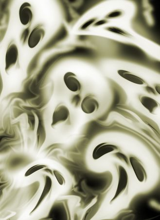 Screeming ghosts background. Computer generated image of skulls.