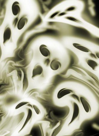 nite: Screeming ghosts background. Computer generated image of skulls.