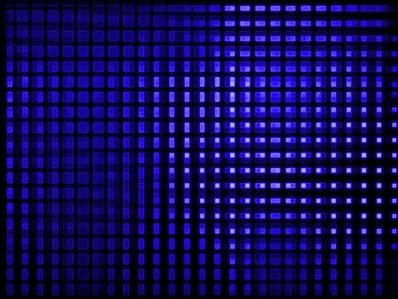 overhead: Blue neon light background. Computer generated pattern. Stock Photo