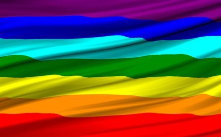 Computer generated rainbow flag waving