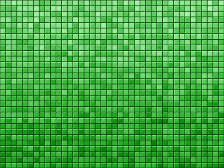 Green tile background pattern. Computer generated picture.