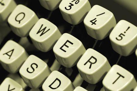 Close-up of an old typewriter keyboard photo