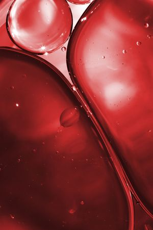 macro view on red bubbles of blood