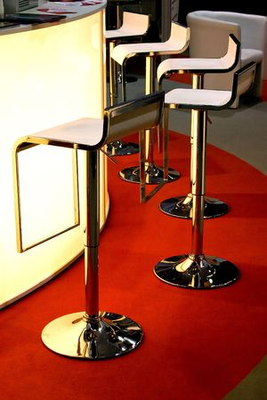 bar chairs in a modern and stylish interior