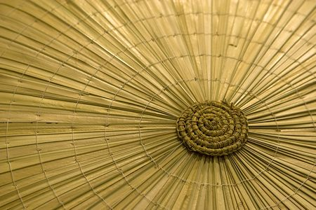 texture of traditional asian straw hat photo