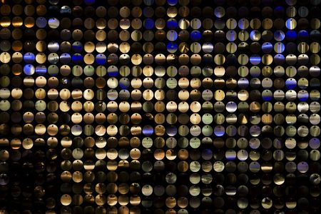 disco background with metal shiny color round