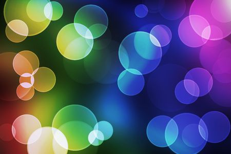 Blured circles of bokeh in colorful background. photo