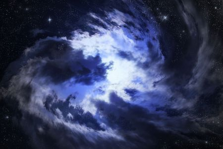 cloud of blue nebula somewhere in deep space Stock Photo - 4714025