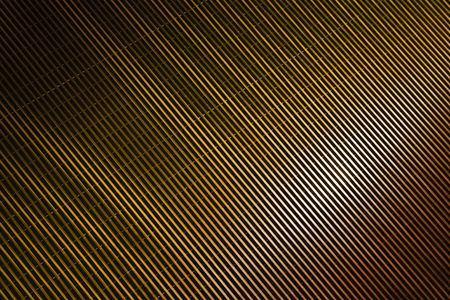 interference: glossy copper stripes as background with interference