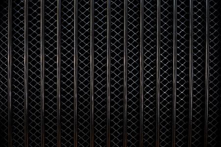 Closeup image of a metal car grill. Stock Photo