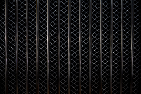 grill pattern: Closeup image of a metal car grill. Stock Photo