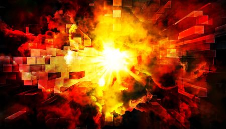 An illustration of an abstract explosion background.