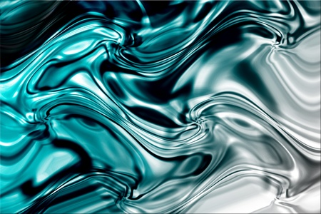 cromo: superficie abstracta y reflexiva del l�quido azul
