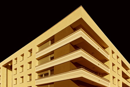 modern building illustration isolated over black  background  Stock Illustration - 8837933