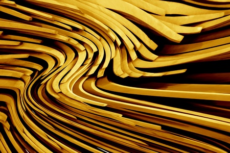 An abstract background with 3D curved lines  Stock Photo