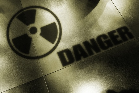 Shadows of nuclear danger. Symbol of radiation. Stock Photo - 9181647