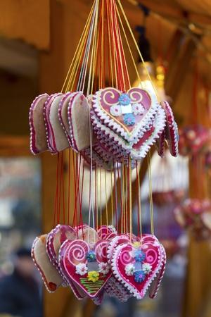 gingerbread heart: Christmas cookies in hart shape
