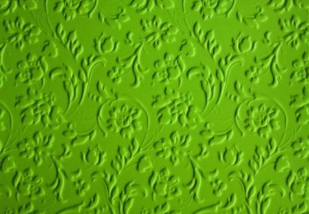 3D green floral wallpaper (seamless pattern). photo