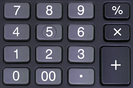 totals: Close up view of calculator number pad  Stock Photo