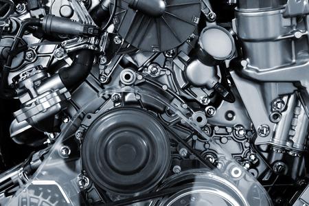 motor coche: Fondo metálico del motor de combustión interna