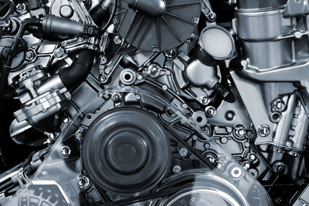 Metallic background of the internal combustion engine