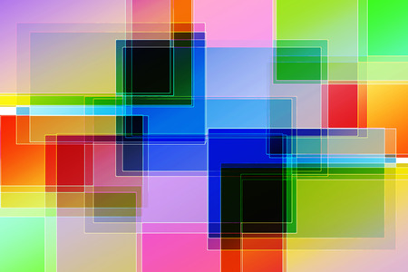 tunnel light: Abstract  design with multicolored rectangles and lines