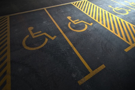symbolization: Parking areas reserved for disabled people