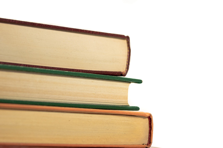 Stack of 3 books isolated on white 2