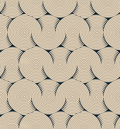 matter: a stylized brain matter pattern seamless tile, in black and beige shades Illustration