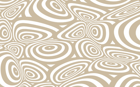 continuum: a space distortion illustration with twisted circles pattern, in soft brown and white Illustration