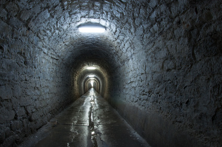 turda: Corridor in the salt mine Stock Photo