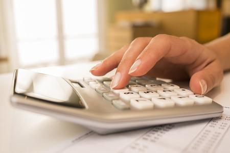 Female finger desk indoor white bill invoice