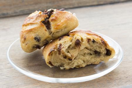 Fresh bread of chocolate Imagens
