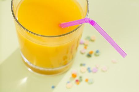 Fresh Orange juice glass