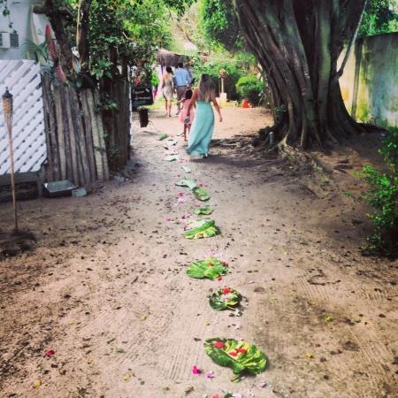 boda en la playa: Tomado por Iphone 5 En una boda en la playa Foto de archivo