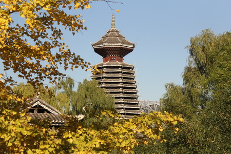 Pagoda of the Chinese national garden