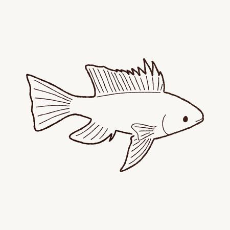 buntbarsch: Cichlid Fish Cartoon Art