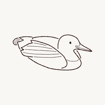 pato caricatura: Pato Brib�n com�n Arte de la historieta Foto de archivo