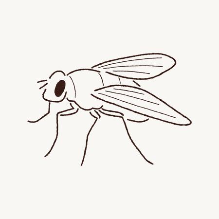 mosca caricatura: Mosca Arte de la historieta