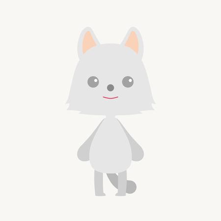 animal: Arctic Fox Animal Cartoon Art Stock Photo