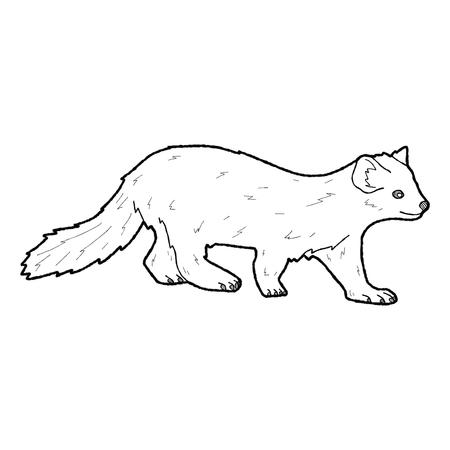 marten: American Marten Animal Cartoon Art Stock Photo